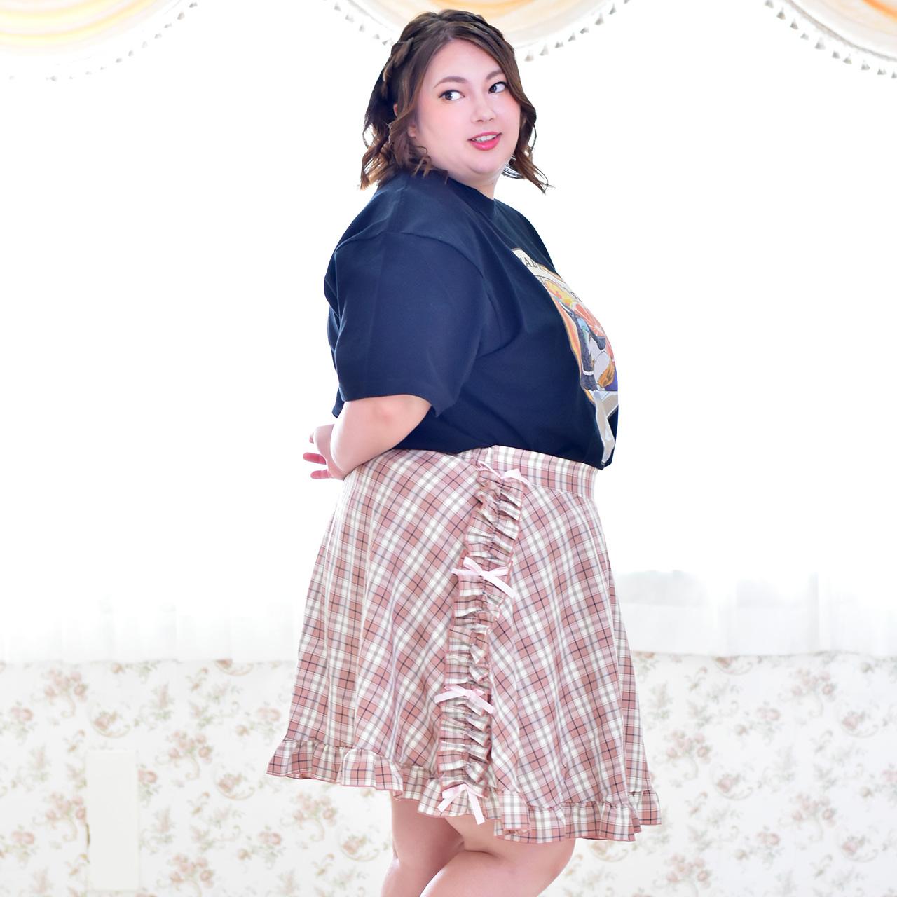リボンフリルスカートの写真